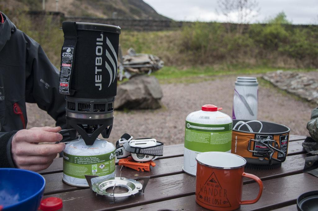 Wild Camping Scotland Jet Boil Stove