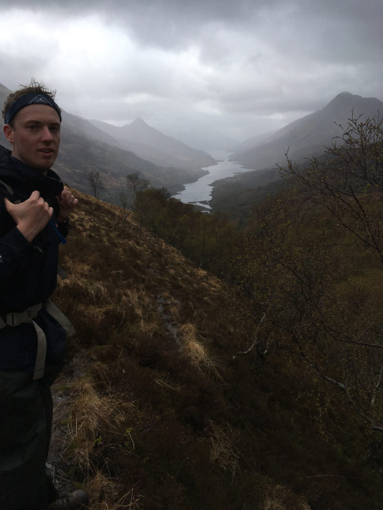 Hiking above kinlochleven